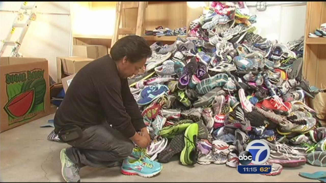 Man collects sneakers for Guatemala