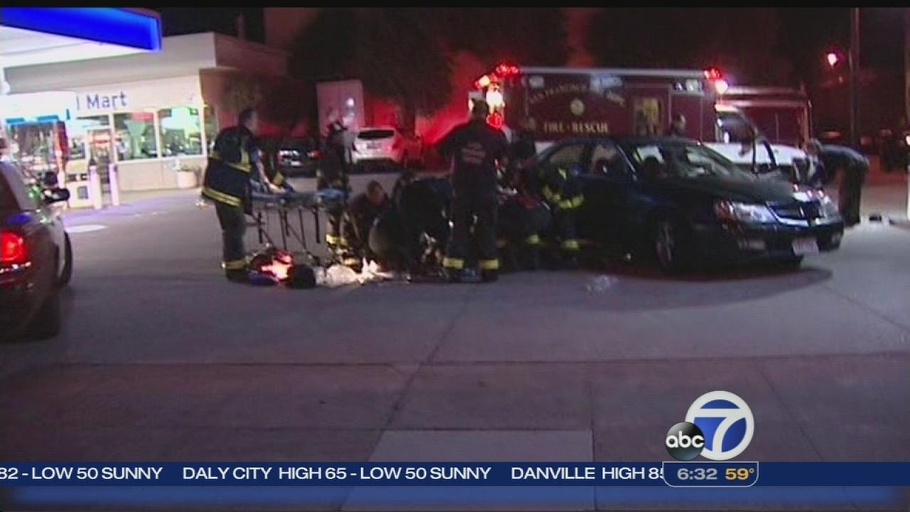 Man transported to hospital after accident in SF