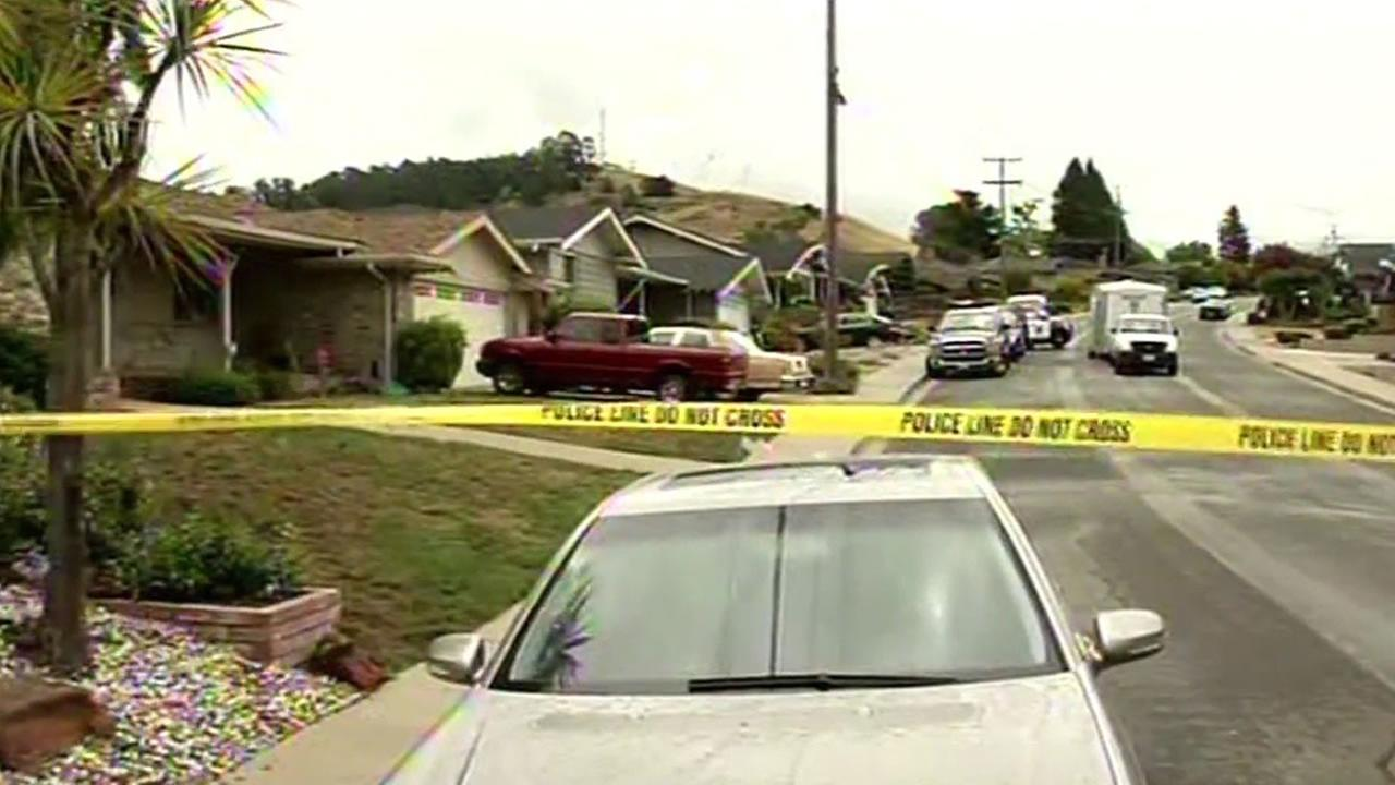 home invasion investigation at a home in San Leandro, Calif.
