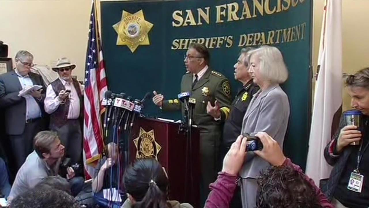 SF Sheriff Ross Mirkarimi ardently defended his jails release of a Mexican national later blamed for the slaying of a woman on Pier 14 during a press conference on July 10, 2015.
