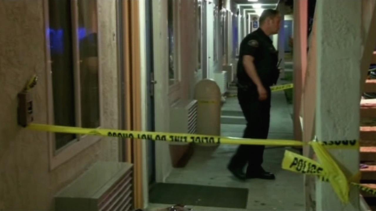 Rohnert Park police investigate after a woman was shot inside a room at Motel 6 on July 2, 2015.