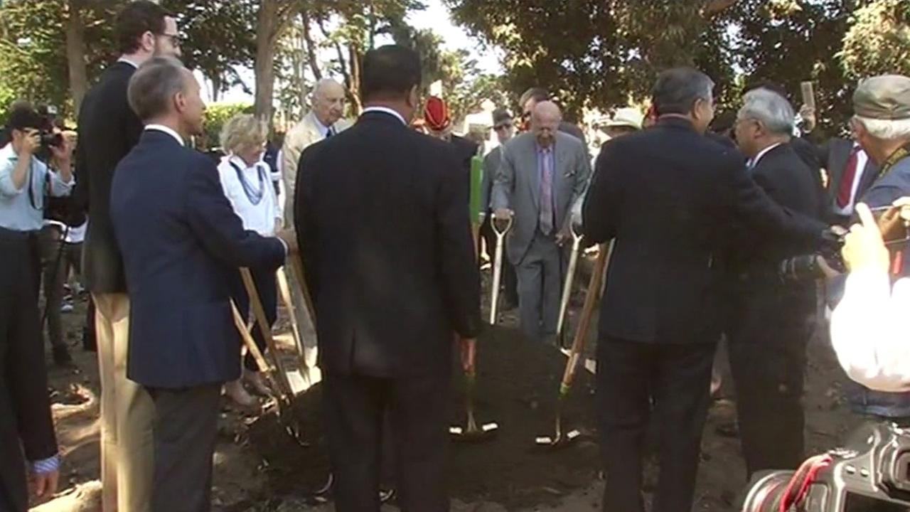 A historic groundbreaking ceremony was held for a Korean War memorial at San Franciscos Presidio National Cemetery on Saturday, July 11, 2015.