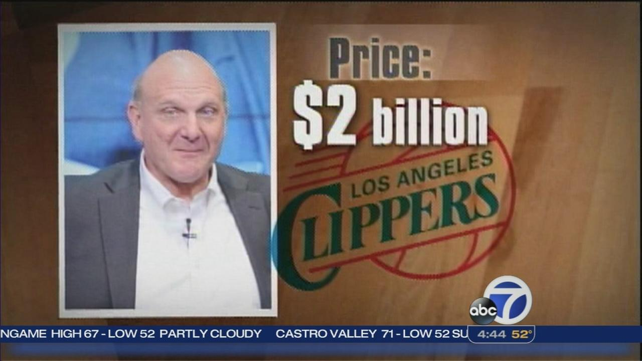 Steve Ballmer agrees to buy LA Clippers