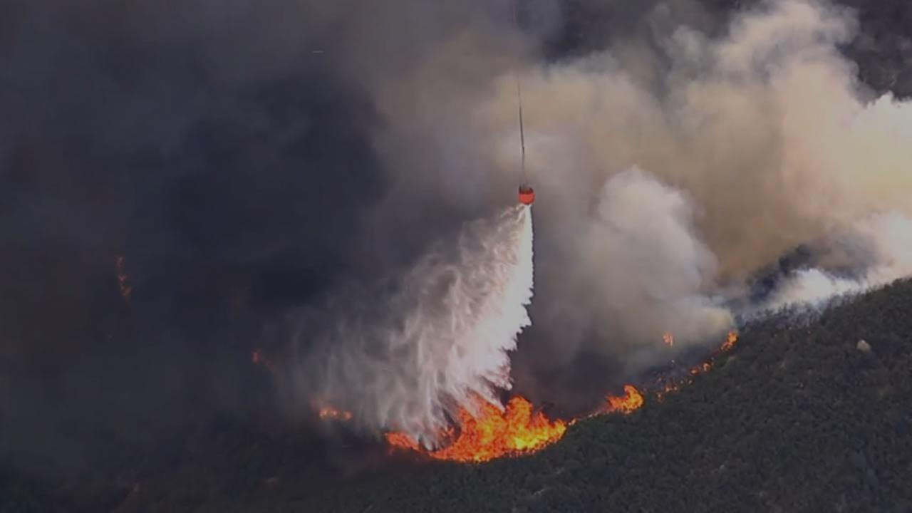 SKY7 HD was over a 400-acre flare-up of the Wragg Fire burning near Lake Berryessa on Tuesday, July 28, 2015.