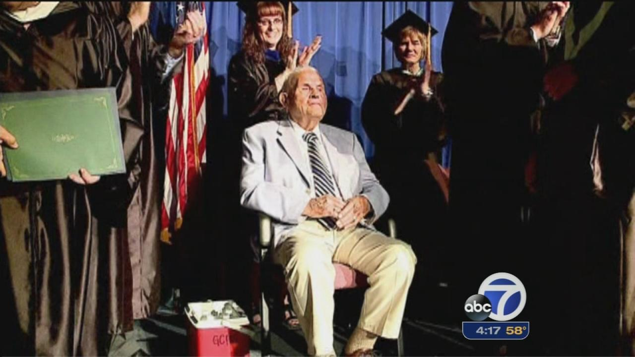WWII veteran finally gets high school diploma