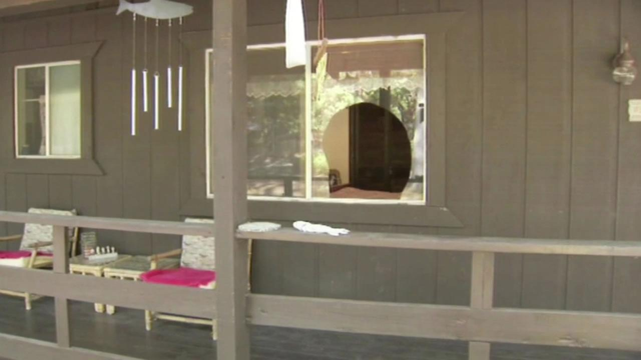 Madera County home with broken window