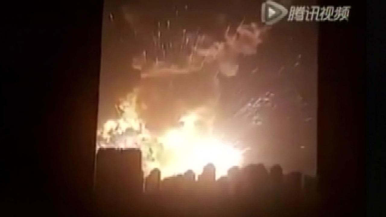 explosion in Tianjin, China