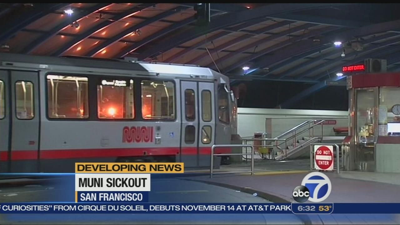 Muni sickout by workers enters day three