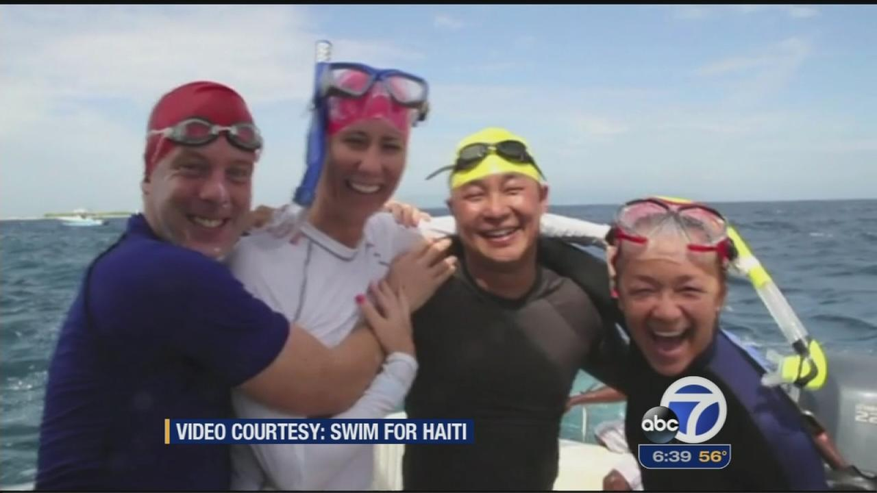 Bay Area man organizes swim to benefit Haiti