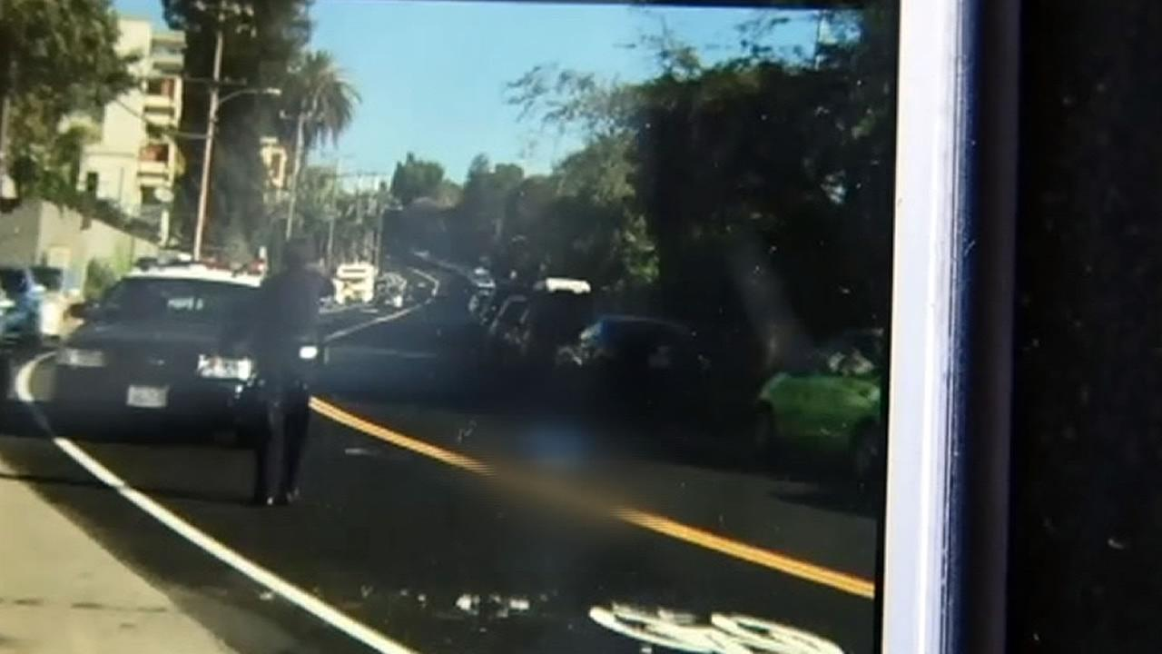 cellphone video showing an officer after she shot a suspect