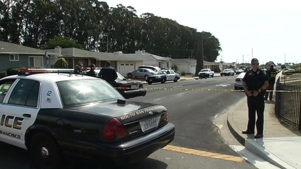 Police are investigating an officer-involved shooting that occurred near the intersection of Del Monte and Romney avenues in South San Francisco on Sunday, August 30, 2015.