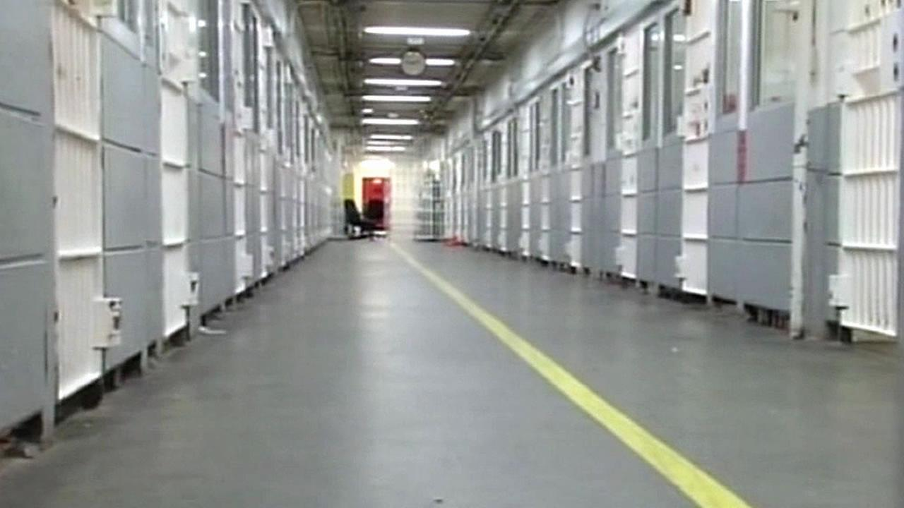 FILE - Jail cells are seen at the Santa Clara County Jail in this undated photo.