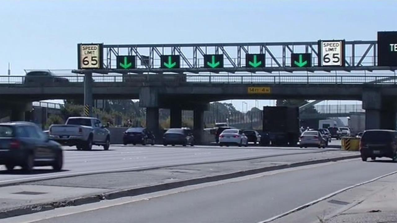 Caltrans tested a new system to help keep traffic moving on Interstate 80 in Berkeley Thursday, Sept. 3, 2015 as part of the The I-80 SMART Corridor Project.
