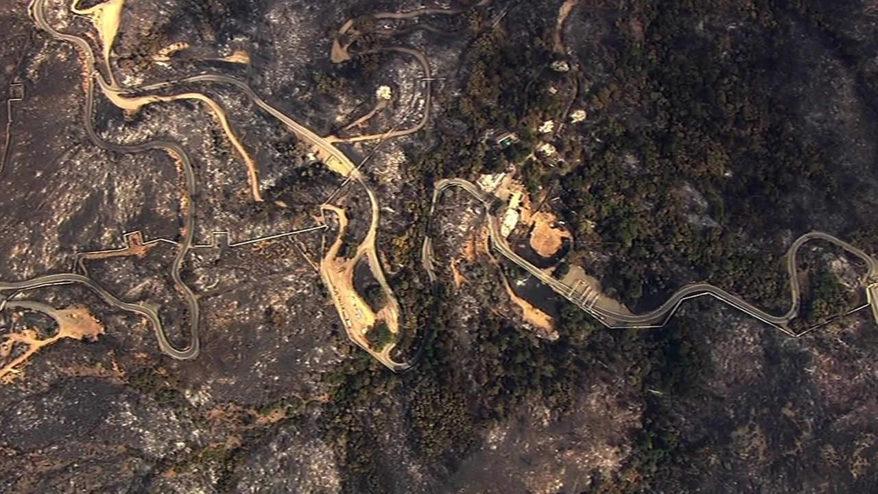 Aerials of Valley Fire