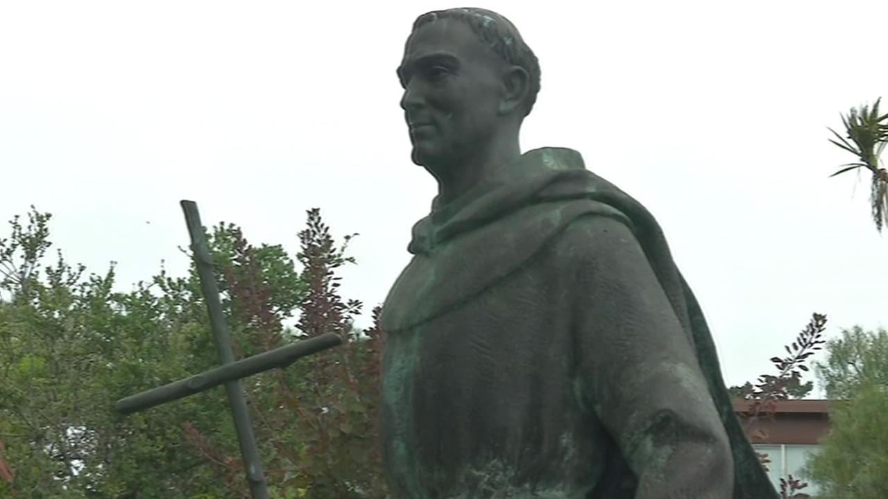Father Junipero Serra statue at Carmel Mission