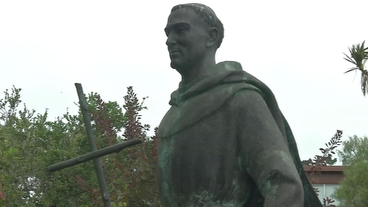 Father Junipero Serra statue at Carmel Mission