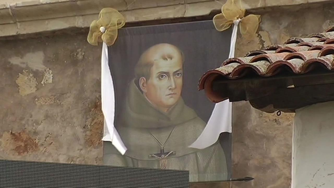 painting of Father Junipero Serra at the Carmel Mission