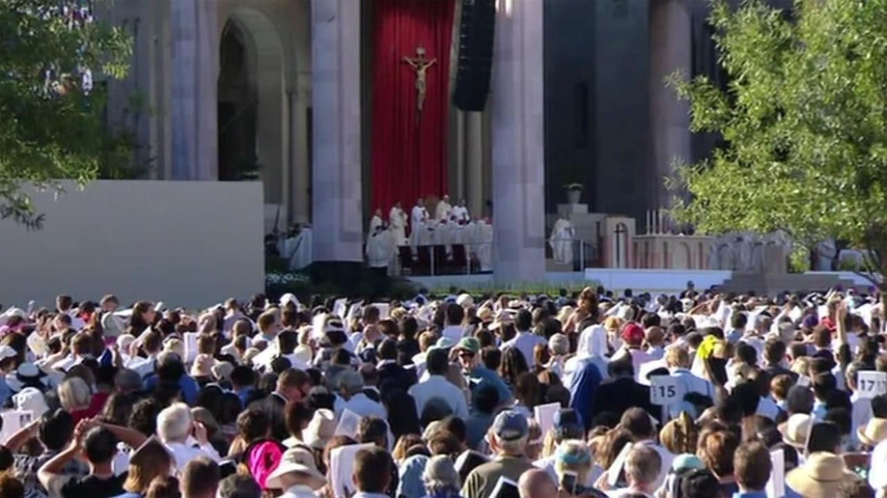 About 25,000 people attended the Popes historic canonization of father Juunipero Serra Wednesday, Sept. 23, 2015 in Washington D.C.