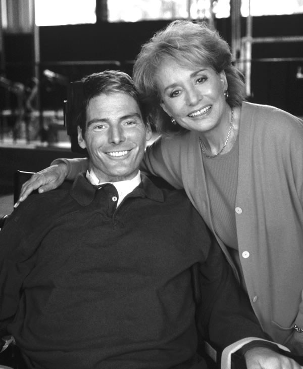 In his first interview since he was left paralyzed from the neck down, actor Christopher Reeve talks with Barbara Walters on a special ABC News' &#34;20/20.&#34; <span class=meta>ABC PHOTO ARCHIVES</span>