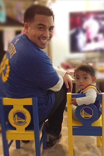 <div class='meta'><div class='origin-logo' data-origin='none'></div><span class='caption-text' data-credit='Photo submitted to KGO-TV by Jen Toledo/uReport'>Little Jai sitting with Dad Julius, in Jai's new chairs that Grandpa Jim handmade! Let's go Dubs! Tag your photos on Facebook, Twitter, Google Plus or Instagram using #DubsOn7.</span></div>