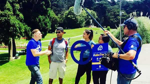 <div class='meta'><div class='origin-logo' data-origin='none'></div><span class='caption-text' data-credit='Photo submitted to KGO-TV by gaphillsdale/Instagram'>The Gap Hillsdale team talked to ABC7 at AIDS Walk San Francisco in Golden Gate Park on Sunday, July 19, 2015.</span></div>