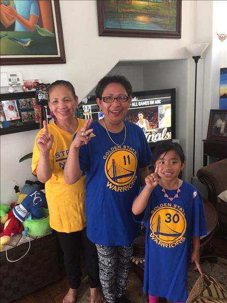 <div class='meta'><div class='origin-logo' data-origin='none'></div><span class='caption-text' data-credit='Photo submitted to KGO-TV by uReport'>Two Warriors FAN-antics! Tag your photos on Facebook, Twitter, Google Plus or Instagram using #DubsOn7.</span></div>