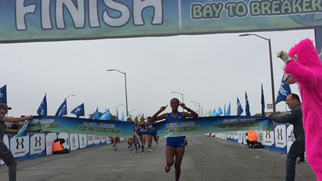 <div class='meta'><div class='origin-logo' data-origin='none'></div><span class='caption-text' data-credit='Bay to Breakers'>Buze Diriba wins Bay to Breaker for women with a time of 39:48 at the 106th Bay to Breakers in San Francisco on Sunday May 21, 2017.</span></div>