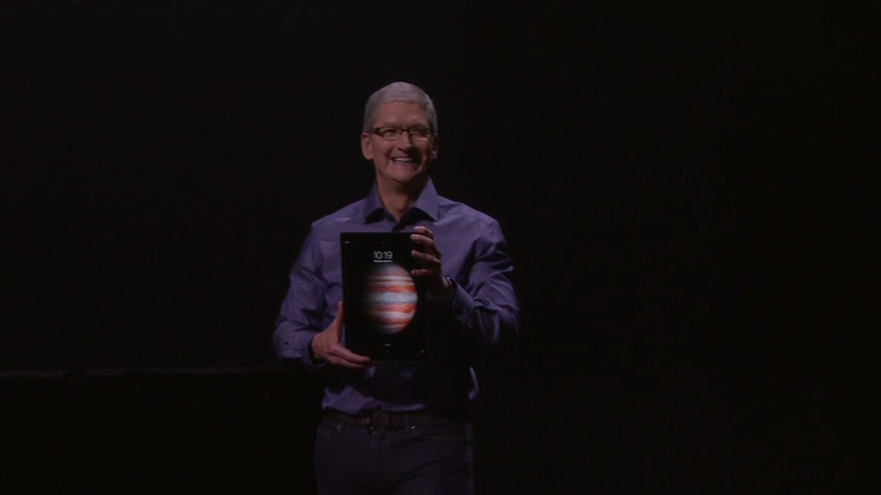 "<div class=""meta image-caption""><div class=""origin-logo origin-image none""><span>none</span></div><span class=""caption-text"">Apple CEO introducing the new iPadPro at the #AppleEvent in San Francisco on Wednesday, September 9, 2015.  (KGO-TV)</span></div>"