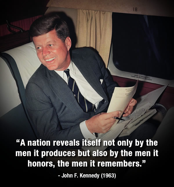 "<div class=""meta image-caption""><div class=""origin-logo origin-image ""><span></span></div><span class=""caption-text"">November 22, 2013 marks the 50th anniversary of President John F. Kennedy's assassination.  ABC7 remembers JFK with some of his inspirational quotes. (AP Photo)</span></div>"