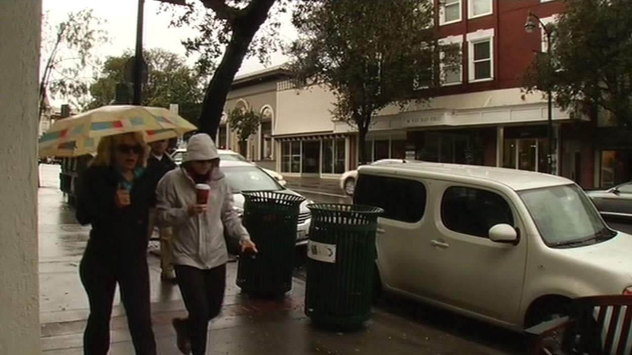"""<div class=""""meta image-caption""""><div class=""""origin-logo origin-image none""""><span>none</span></div><span class=""""caption-text"""">People walking in the rain in Los Gatos on Tuesday, April 7, 2015. (KGO-TV)</span></div>"""