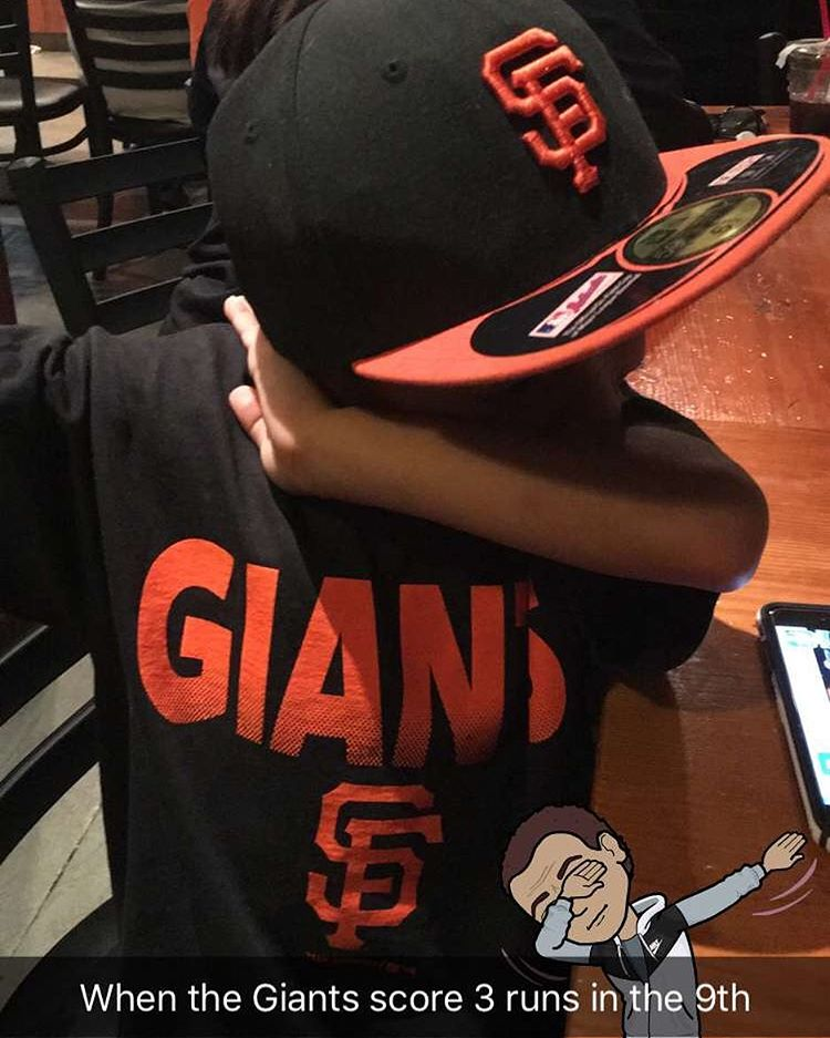 <div class='meta'><div class='origin-logo' data-origin='none'></div><span class='caption-text' data-credit='Photo submitted to KGO-TV by @katerinak15/Instagram'>ABC7 viewers are showing off their San Francisco Giants fan pride. Share yours by tagging them #abc7now!</span></div>
