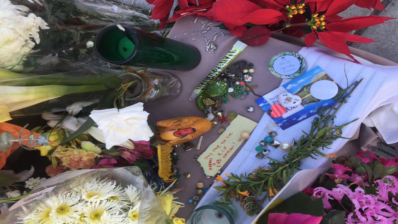 "<div class=""meta image-caption""><div class=""origin-logo origin-image none""><span>none</span></div><span class=""caption-text"">A growing number of gifts and messages sits near the site of the Ghost Ship fire in Oakland, Calif. on Dec. 6, 2016. (Tess Stevens)</span></div>"