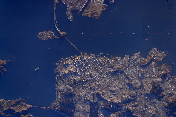<div class='meta'><div class='origin-logo' data-origin='none'></div><span class='caption-text' data-credit='StationCDRKelly/Twitter'>NASA Astronaut Scott Kelly took this pic of San Francisco from space on Sunday, February 7, 2016.</span></div>