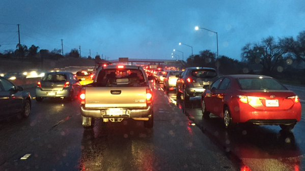 "<div class=""meta image-caption""><div class=""origin-logo origin-image none""><span>none</span></div><span class=""caption-text"">CA 17 southbound at a standstill going through Campbell, Calif., because of weather on Friday, January 22, 2016.  (KGO-TV)</span></div>"