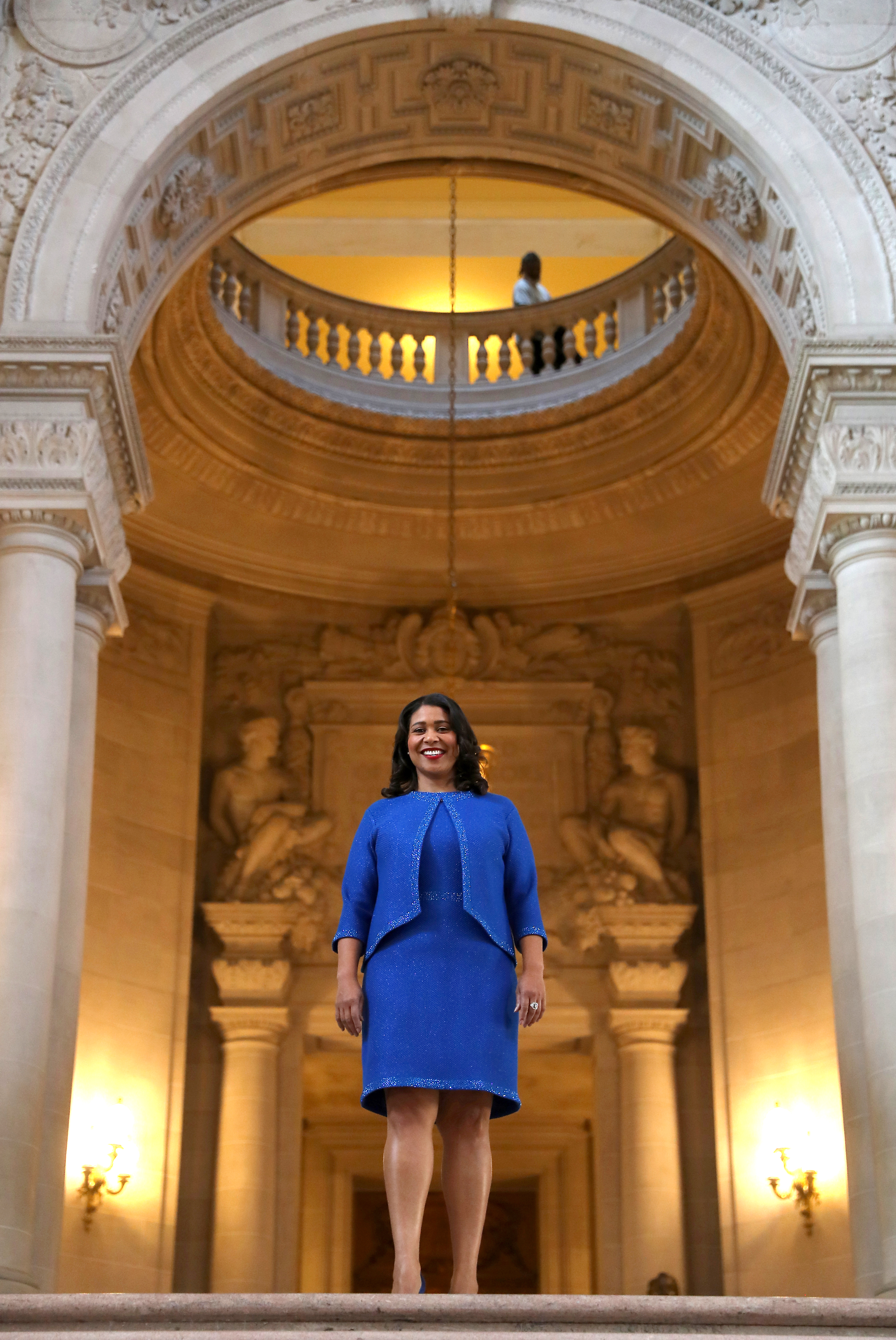 <div class='meta'><div class='origin-logo' data-origin='none'></div><span class='caption-text' data-credit='The Chronicle'>London Breed waits inside city hall prior to her inauguration ceremony on Wednesday, July 11, 2018, in San Francisco, Calif.</span></div>