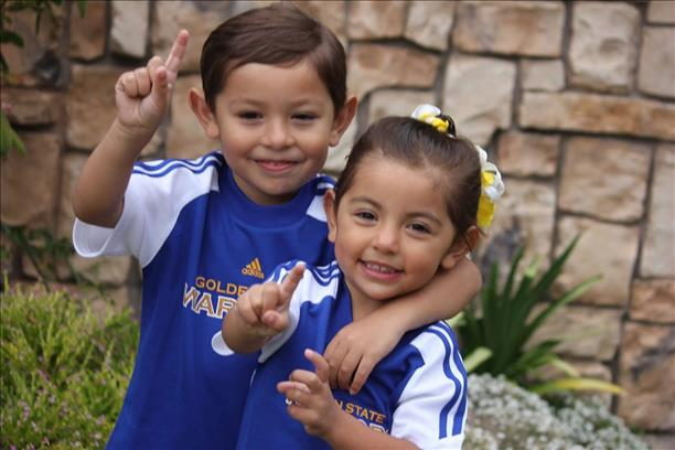 <div class='meta'><div class='origin-logo' data-origin='none'></div><span class='caption-text' data-credit='Photo submitted to KGO-TV by Robert Frey/uReport'>Grandkids, Robby, 4, and Isabella, 3. The 2 know Warriors are #1! Let's go Dubs! Tag your photos on Facebook, Twitter, Google Plus or Instagram using #DubsOn7.</span></div>