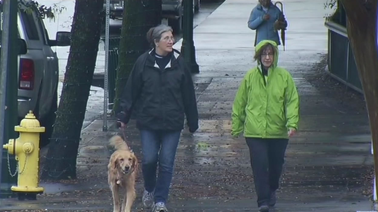 """<div class=""""meta image-caption""""><div class=""""origin-logo origin-image none""""><span>none</span></div><span class=""""caption-text"""">People walking in the rainy weather in Los Gatos on on Tuesday, April 7, 2015. (KGO-TV)</span></div>"""