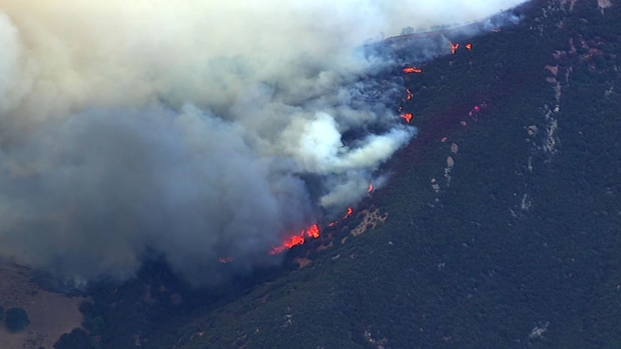 <div class='meta'><div class='origin-logo' data-origin='none'></div><span class='caption-text' data-credit='KGO-TV'>SKY7 HD was over a 150-acre flare-up of the Wragg Fire burning near Lake Berryessa on Tuesday, July 28, 2015.</span></div>