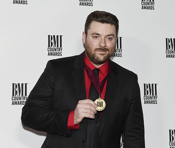 <div class='meta'><div class='origin-logo' data-origin='AP'></div><span class='caption-text' data-credit='Sanford Myers/Invision/AP'>Chris Young poses with his award at the 64th Annual BMI Country Awards at BMI on Tuesday, Nov. 1, 2016, in Nashville, Tenn.</span></div>