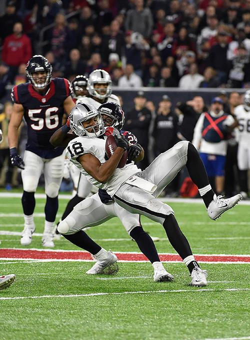 <div class='meta'><div class='origin-logo' data-origin='AP'></div><span class='caption-text' data-credit='AP Photo/Eric Gay'>Oakland Raiders wide receiver Andre Holmes (18) makes the catch ahead of Houston Texans free safety Andre Hal (29).</span></div>