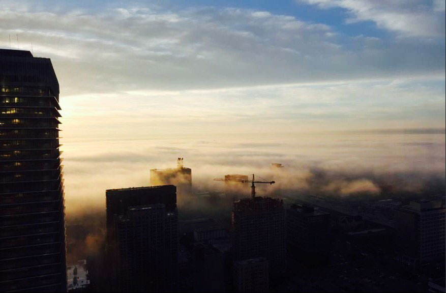 "<div class=""meta image-caption""><div class=""origin-logo origin-image none""><span>none</span></div><span class=""caption-text"">abc13 reporter Courtney Fischer's husband shot this gorgeous view of Downtown Houston covered in dense fog. (Dense fog in Houston)</span></div>"