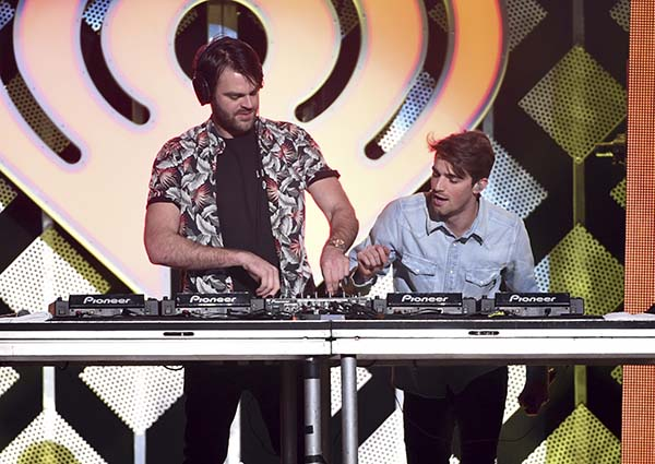 <div class='meta'><div class='origin-logo' data-origin='AP'></div><span class='caption-text' data-credit='Evan Agostini/Invision/AP'>Alex Pall, left, and Andrew Taggart from The Chainsmokers perform at Z100's iHeartRadio Jingle Ball at Madison Square Garden on Friday, Dec. 9, 2016, in New York.</span></div>