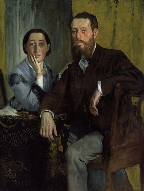 "<div class=""meta image-caption""><div class=""origin-logo origin-image none""><span>none</span></div><span class=""caption-text"">Edgar Degas, Edmondo and Thérèse Morbilli, c. 1865, oil on canvas, Museum of Fine Arts, Boston, gift of Robert Treat Paine, 2nd.  (Courtesy Museum of Fine Arts, Houstoun)</span></div>"