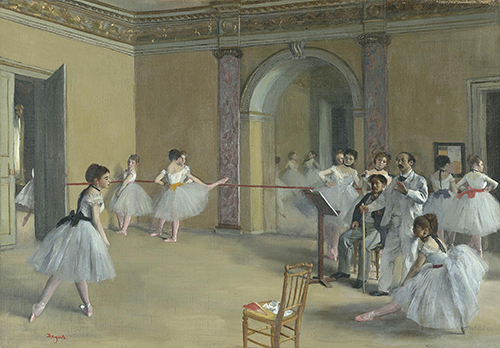 "<div class=""meta image-caption""><div class=""origin-logo origin-image none""><span>none</span></div><span class=""caption-text"">Edgar Degas, Rehearsal Hall at the Opera, Rue Le Peletier, 1872, oil on canvas, Musée d'Orsay, Paris. © RMN-Grand Palais (Musée d'Orsay) / Hervé Lewandowski  (Courtesy Museum of Fine Arts, Houstoun)</span></div>"
