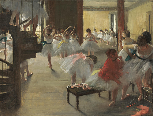"<div class=""meta image-caption""><div class=""origin-logo origin-image none""><span>none</span></div><span class=""caption-text"">Edgar Degas, The Dance Class, c. 1873, oil on canvas, National Gallery of Art, Washington, Corcoran Collection (William A. Clark Collection). (Courtesy Museum of Fine Arts, Houstoun)</span></div>"