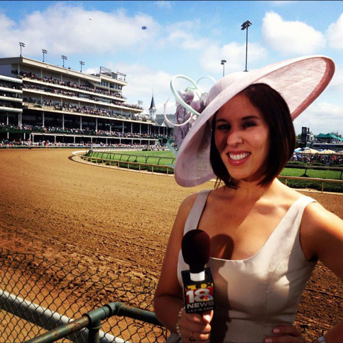 <div class='meta'><div class='origin-logo' data-origin='none'></div><span class='caption-text' data-credit=''>Check out Courtney Fischer's incredible hat as she reports back in the day from the Kentucky Derby!</span></div>