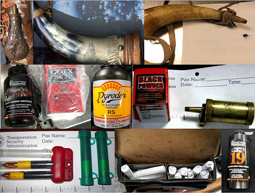 "<div class=""meta image-caption""><div class=""origin-logo origin-image none""><span>none</span></div><span class=""caption-text"">Passengers attempted to travel with hazardous items, including black gun powder.  (TSA)</span></div>"