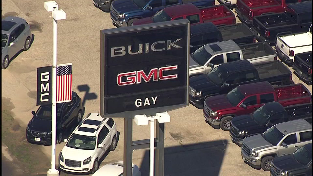 <div class='meta'><div class='origin-logo' data-origin='KTRK'></div><span class='caption-text' data-credit=''>Police say a disgruntled worker opened fire inside the Gay Family Auto dealership in Dickinson. These aerials provided taken by SkyEye 13.</span></div>