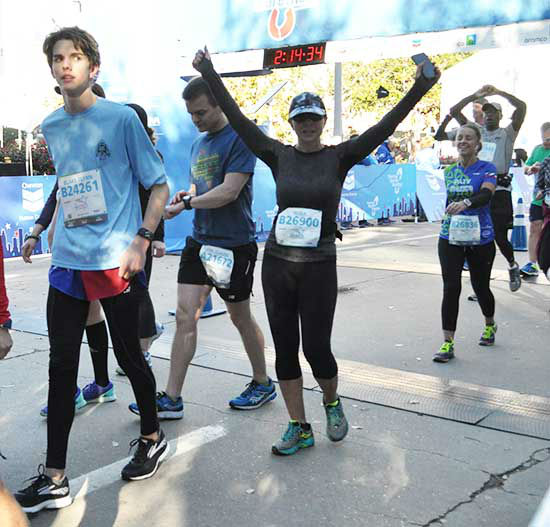 "<div class=""meta image-caption""><div class=""origin-logo origin-image none""><span>none</span></div><span class=""caption-text"">Photos from the finish line of the Chevron Houston Marathon and Aramco Half Marathon.  Send your photos to us at news@abc13.com. (Photo/Ben Wolverton)</span></div>"
