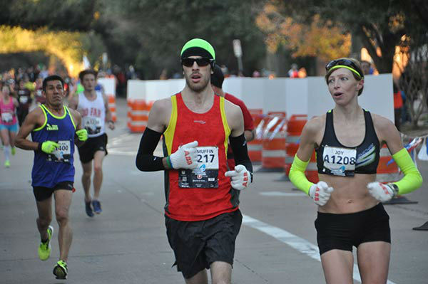 <div class='meta'><div class='origin-logo' data-origin='none'></div><span class='caption-text' data-credit='KTRK Photo/ Gina Larson'>Runners along the course of the Chevron Houston Marathon and Aramco Houston Half-Marathon, Sunday, January 17, 2016.</span></div>